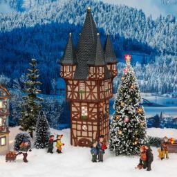 Miniatur-Lichthaus Bromser-Turm in Rüdesheim