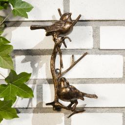 Bronze-Figur Vogelspaß
