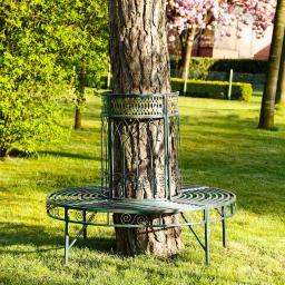 Baum-Gartenbank Kensington Palace, grün-braun