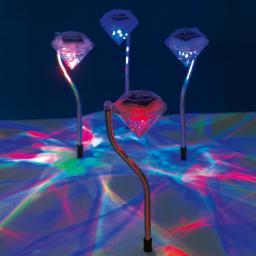 EASYmaxx Solar-Leuchte Diamant, 4er-Set