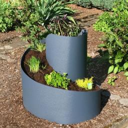 Kräuterspirale, Kunststoff, anthrazit, 80x80x80 cm