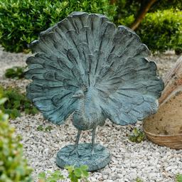 Gartenfigur Pfau Suri
