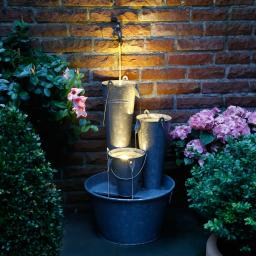 Deko-Brunnen Country mit LEDs