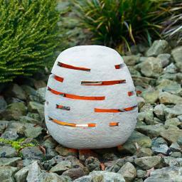 Terracotta-Gartenleuchte, groß
