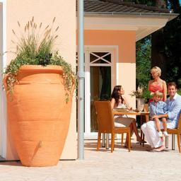 GARANTIA Regenwassertank Amphore 250 Liter, terracotta