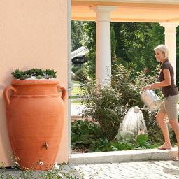 GARANTIA Regenwassertank Wand-Amphore 260 Liter, terracotta
