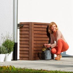 Regenwassertank Woody 350 Liter, dunkelbraun