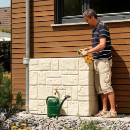 Regenwassertank 300 Liter, sandbeige