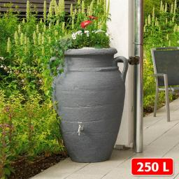 GARANTIA Regenwassertank Amphore 250 Liter, granit
