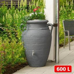 GARANTIA Regenwassertank Amphore 600 Liter, granit