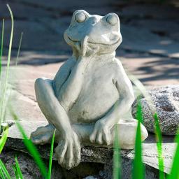 Gartenfigur Mauerhocker Frosch