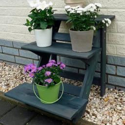 Blumentreppe, klein, anthrazit