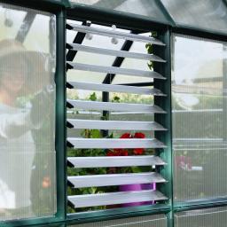 Lamellenfenster zur Gewächshausbelüftung