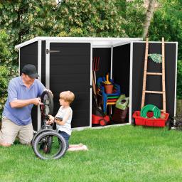Bike & More Fahrrad- und Mülltonnenbox, anthrazit