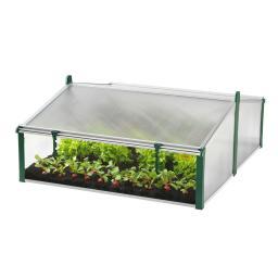 JUWEL Komfort-Doppelfrühbeet Easy Fix, transparent, 120x100x40 cm