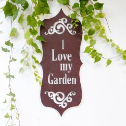 Wandschild Gartenliebe