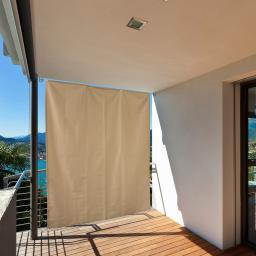 Balkon Sonnenschutz, creme