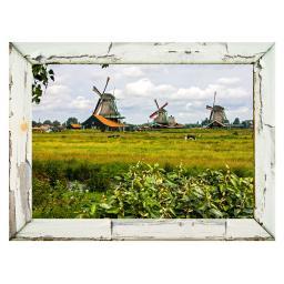 Gartengemälde Windmühlen 79 x 59 cm