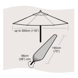 Schutzhülle für Sonnenschirm, groß
