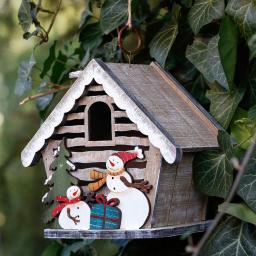 Deko-Vogelhaus Weihnachtsfreude
