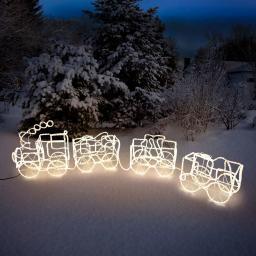 LED-Weihnachtszug mit 3 Waggons