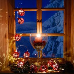 LED-Lichterkette Weihnachtskugeln