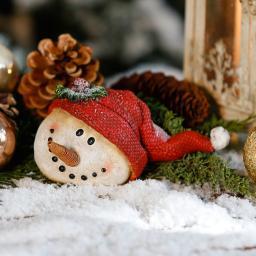 Schneemanngesicht Michi Mütze