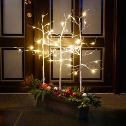 Star LED-Bäume Wintermärchen, 3er-Set, 87x45 cm, Kunststoff, weiss