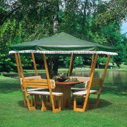 Ersatzdach für Pavillon Rosenheim grün