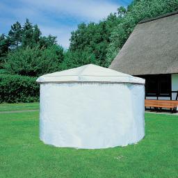 Wetterschutzumhang für Pavillon Rosenheim, weiß