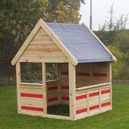 CYO Spielhaus natur-rot