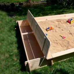 Sitz- und Staukasten für Sandkasten Yanick