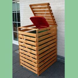 Mülltonnenbox Vario V für 1 Tonne, honigbraun