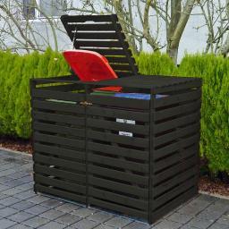 Mülltonnenbox Vario V für 2 Tonnen, anthrazit