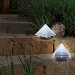 EASYmaxx Solar-Leuchte Pyramide, 2er-Set