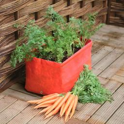 Gemüse und Kräuter Pflanzsack, 2er-Set, orange, 2x40 Liter