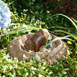 Gartenfigur Gnom Andy Arbeit