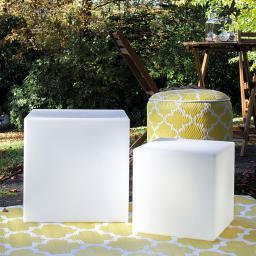Solarleuchte Shining Cube, 33 cm