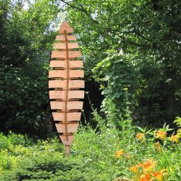 Rankgitter Blatt Salix inkl. Rankaufsatz