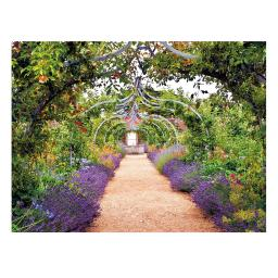 Gartengemälde Rosenbogenweg 70 x 50 cm