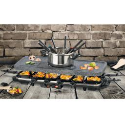 Raclette- & Fondue-Set im Granit-Look