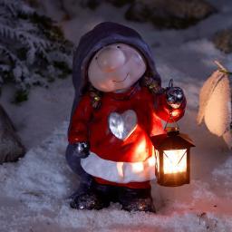 Winterwichtel Wilma mit Laterne
