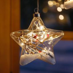 LED-Fensterdeko Schneestern