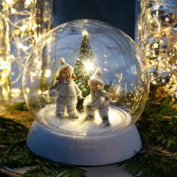 LED-Schneekugel Kinderglück