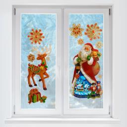 3D-Fenster-Sticker Frohe Weihnacht