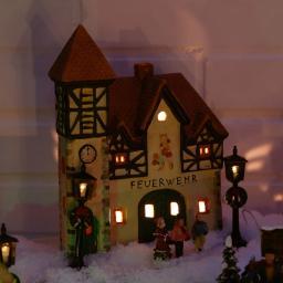 Miniatur-Lichthaus Feuerwehr