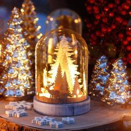 LED-Dekoration Winterwald