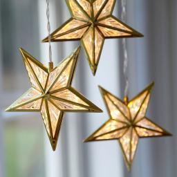 Star LED-Sternentrio Wintergold, 380x16x16 cm, Kunststoff, gold