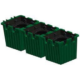 Pflanzkasten 3er-Set grün