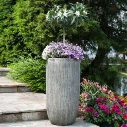 Pflanzkübel Woodland, 84x26x26 cm, Kunststein